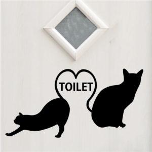 ネコのトイレマークステッカー