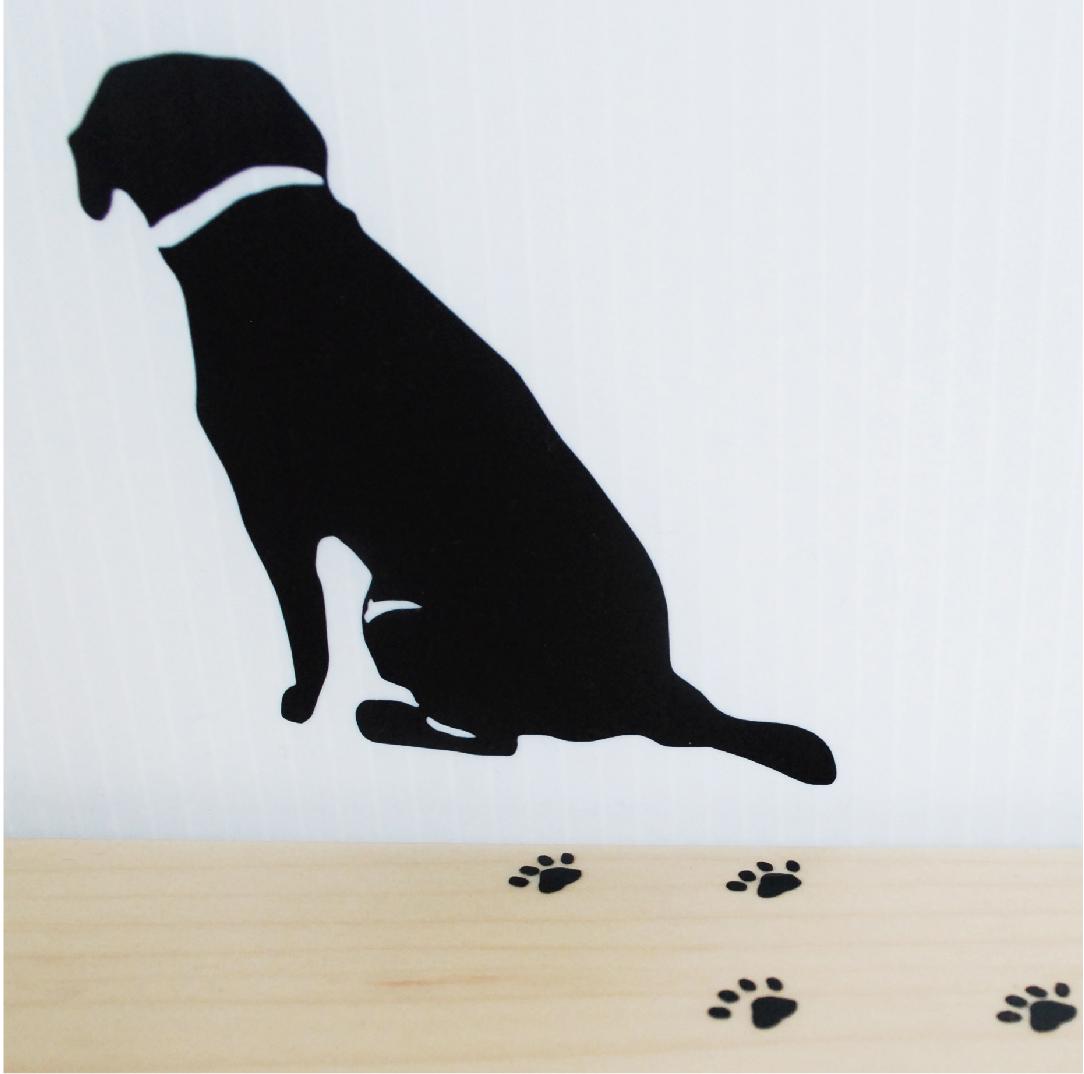 玄関に貼ってもかわいい犬の後ろ姿ウォールステッカー