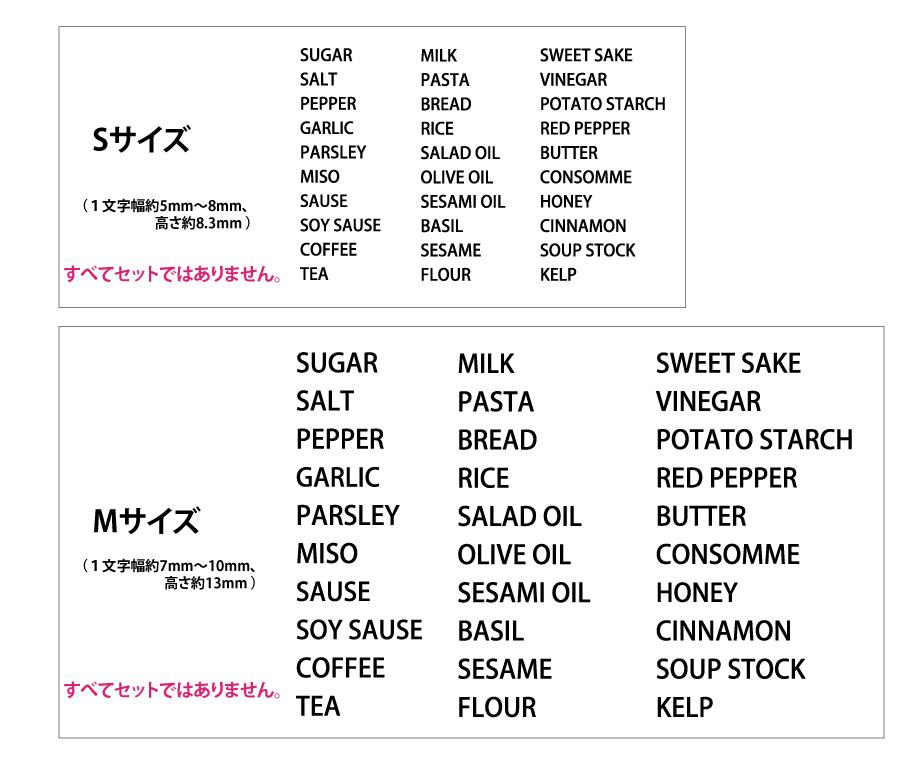 英語でおしゃれにキッチンラックを収納できる調味料ラベル