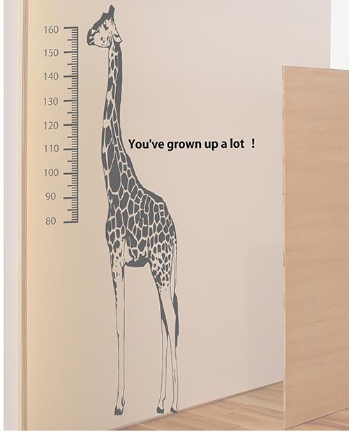 身長計のそばにおすすめな子供の成長を願うメッセージウォールステッカー(文字のみ)