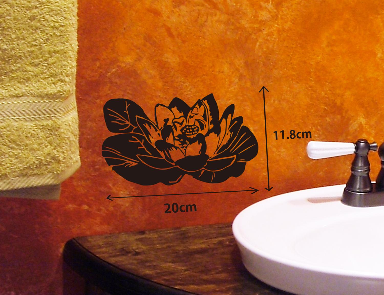 涼しげで水周りにおすすめの睡蓮の花ウォールステッカー
