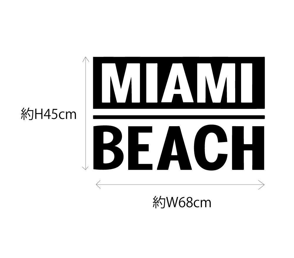 MIAMI BEACH マイアミビーチ ロゴタイプデザインステッカー