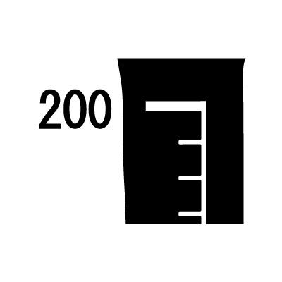 200cm対応身長計ウォールステッカー