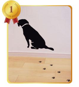 壁穴、汚れ隠しウォールステッカーランキング1位犬ウォールステッカー